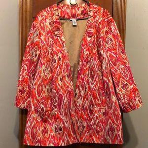 💗Nwot pretty & colorfull blazer jacket!! Size 5X
